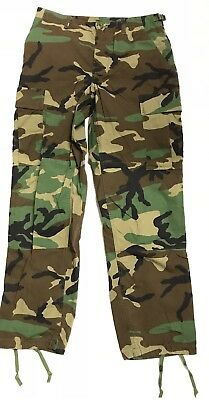 US Army Wcp Woodland Camouflage Cargo Bdu Nyco Extérieur Pantalon Small Regular