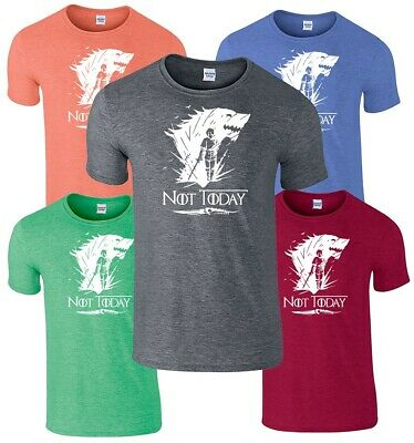 Arya Stark Not Today T-Shirt Game Of Thrones Inspired Shirt Adults Unisex Fit