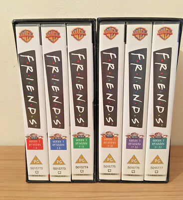 Friends VHS Video Cassette Tape Box Set Series 3 Episodes 1 to 25 in Box Sleeve