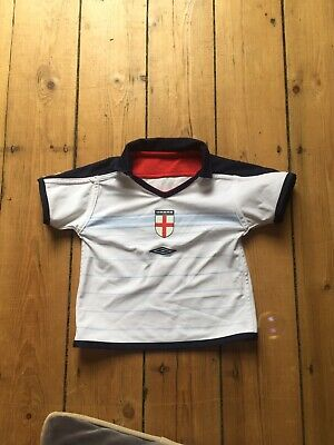 Kids Childs Baby Infant England Football Top Shirt Age 18/24 Mths Reversible