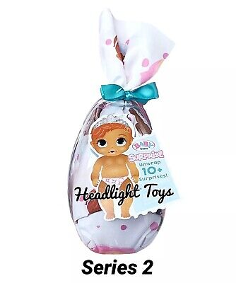 1 Series 2 BABY BORN Surprise Doll Mystery Pack Boy Girl Drinks Wets In Hand