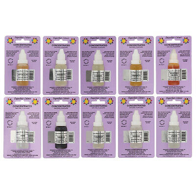 3 x Sugarflair Concentrated Natural Flavour Drops for Cakes Icing and Cookies