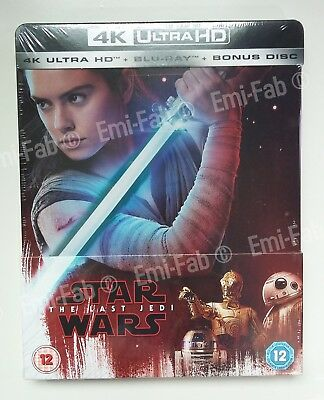 STAR WARS 8 - THE LAST JEDI ( Les Derniers Jedi )  - Steelbook Blu ray Zavvi 4K