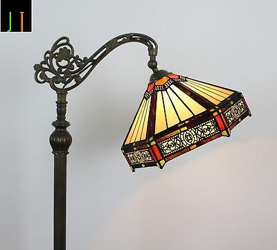 EOFY Sale Tiffany Hexagon Style  Stained Glass Art Deco Hanging Floor Lamp