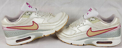 Women's Girl's Nike Air Max BW Classics Trainers, Pearl White, Pink, UK Size 4.5
