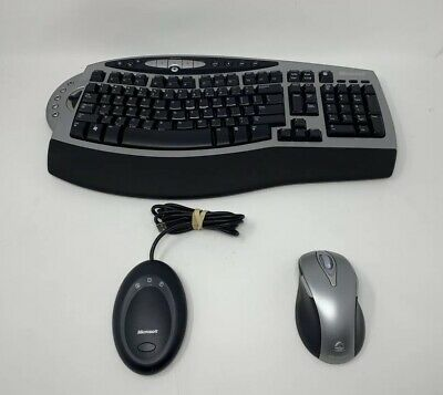 a0b27db4a23 Microsoft Wireless Comfort Keyboard 4000 1045 w/ Mouse & Receiver 3.0A  Tested