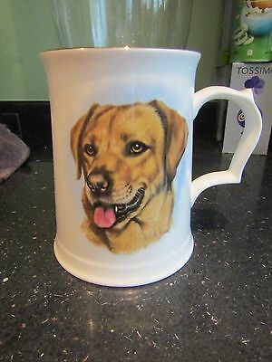 Hammersley Royal Worcester Spode Bone China Tankard Labrador/Collie Dogs Signed