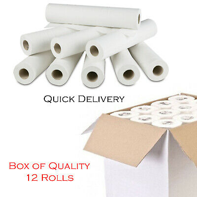 "Premium Quality White 20"" Couch Rolls Hygiene Roll (12 Rolls) Medical Massage UK"