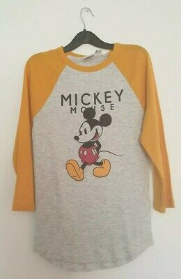 Disney Womens Mickey Mouse Long Sleeved Tshirt Size 6-8 Primark