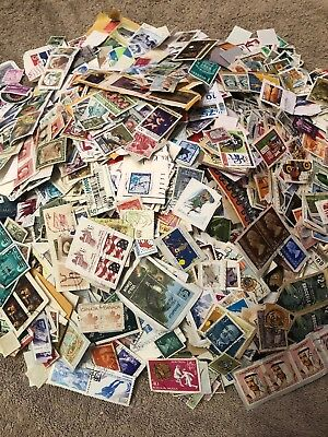 1/2 Kg Used Foreign Kiloware Charity Collected Stamps No Gb On Paper
