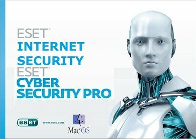Eset Internet, Cyber Security Mac  2019 1,2,3 Pc For 1,2,3 Year