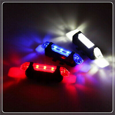 5 LED Rear Lamp USB Rechargeable Bike Tail Light Bicycle Safety Cycling Warning