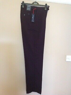 Bnwt Marks And Spencer Mens Blue Harbour Burgundy Chinos Waist 32 Ins Rrp £39.50