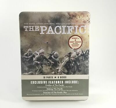 The Pacific DVD 10 Part Mini Series 6 Disc Set in Tin Case NEW SEALED FREE SHIP