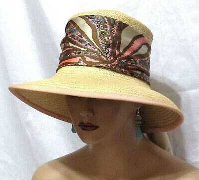 35b89f68 VINTAGE 60S SAKS FIFTH AVE Italy Straw Hat 21 1/2