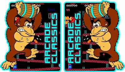 Donkey Kong Themed Arcade Classics Side Art Decals  - Mame or Multicade - 3M