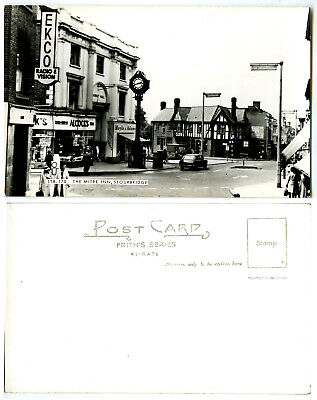 c1950s/1960s MITRE INN PUB STOURBRIDGE RP POSTCARD~WORCESTERSHIRE~EKCO SHOP SIGN