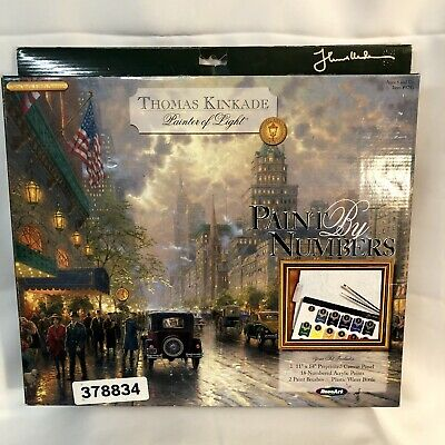 Paint By Numbers Thomas Kinkade -New York, Fifth Avenue Acrylic Paints. NEW