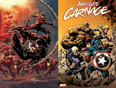 ABSOLUTE CARNAGE 2 Stegman A Cvr + Hotz Connecting Var Cates 2019 NM+ 8/28