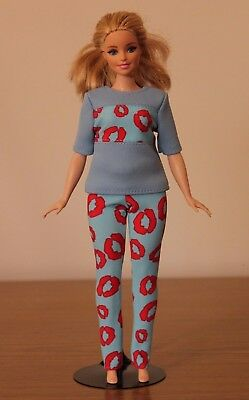 №285 Clothes for Curvy Barbie Doll T-shirt and Leggings for Dolls