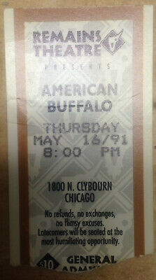 """Gary Cole 'American Buffalo' (1991) Official Remains Theatre Chicago Eng. Stub"""