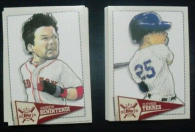 2019 Topps Big League Star Caricature Reproductions Complete Set 30 cards