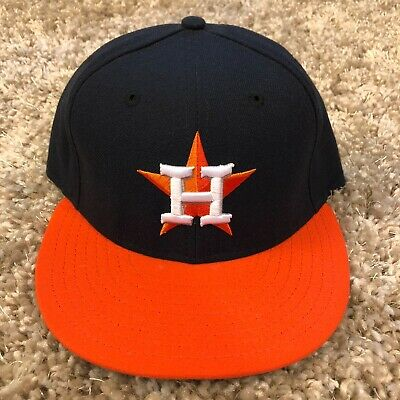 563cc256 HOUSTON ASTROS MENS Hat 7 5/8 Fitted Low Crown New Era 59Fifty Cap ...