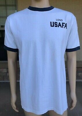 Vintage Long USAFA US Air Force Academy Ringer T Shirt In2Sports USA Large
