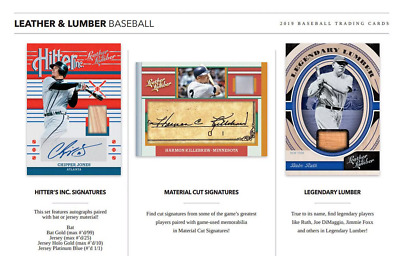 2019 Panini Leather & Lumber Baseball Hobby Pick Your Player (Pyp) 1 Box Break