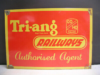 Triang Tri-Ang Authorised Dealer  Tin Sign For Your Train Room Freepost Australi