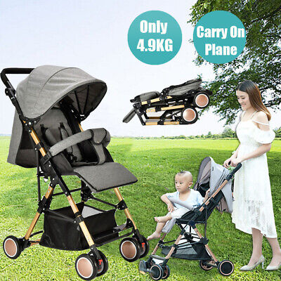 Foldable Baby Stroller Pram Compact Lightweight Carry-on Plane Travel Pushchair