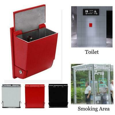 Wall Mounted Ashtray Alloy Cigarette Cylinder Ash-tray Outdoor Smoking Area