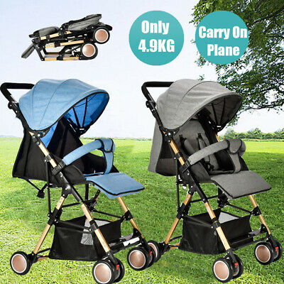 2019 Portable Fold Travel Stroller Lightweight Compact Baby Pram Carry-on Plane