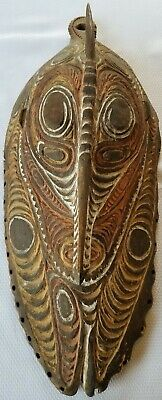 """Vintage PAPUA NEW GUINEA Wood Mask Tribal Hand Carved Authentic Large 21"""" Estate"""