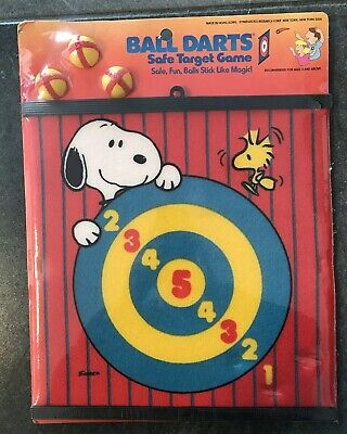 Snoopy Peantus vintage BALL DARTS vintage 80's GAME TOY SYNERGISTICS RESEARCH NY