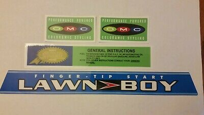Reproduction Lawn Boy 5 piece 1970s D600 Solid State Adhesive Decal Set.