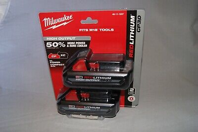 NEW OEM Genuine Milwaukee CP3.0 2-Pack Battery 48-11-1837 M18 Red Lithium sealed