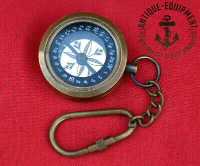 """Antique Vintage Maritime 1"""" Brass Compass In Brown Antique Art-1917 Replica Gift"""