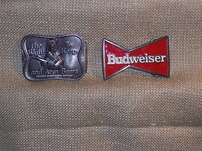 Budweiser Belt Buckles1989 Red The Right to keep and Arm Bears 423