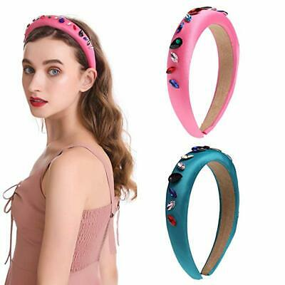 Women's Crystal Headband Wide Fabric Hairband Hair Band Hoop Accessories Party