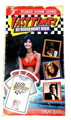 Funko Fast Times At Ridgemont High T Shirt XL Packaged as Home Video VHS