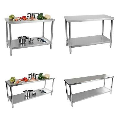 Stainless Steel Tables Food Preparation Stainless Steel Kitchen Work Tables
