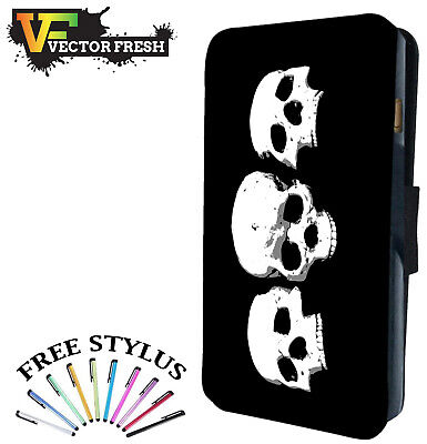 Tattoo Vintage Brothers In Arms Skulls Leather Wallet Flip