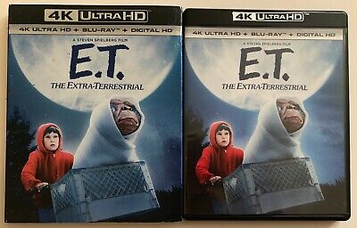 E.t. The Extra Terrestrial 4K Ultra Hd Blu Ray 2 Disc Set + Rare Oop Slipcover