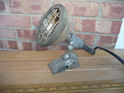 Vintage /Retro/Industrial Kelvin-Norton Workshop lamp with universal mount clamp