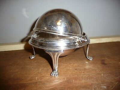 Antique Silver plated dish with revolving domed lid .Silver plated Butter Dish
