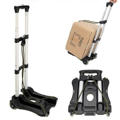 170LB Cart Folding Dolly Push Truck Hand Collapsible Trolley Luggage Aluminium