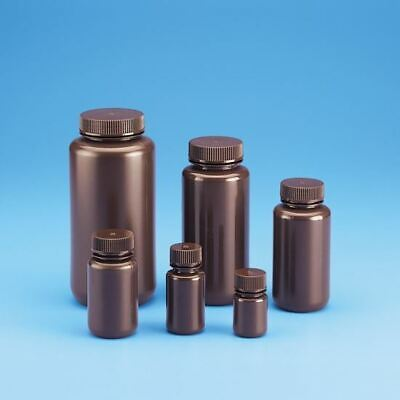 Amber Wide Mouth Bottles, High Density Polyethylene (Hdpe)