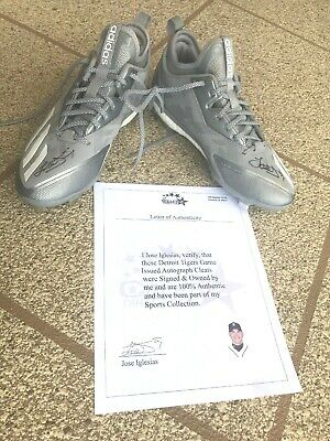 4da1425c0 Jose Iglesias Signed Autographed Player Issued MLB Detroit Tigers Adidas  Cleats