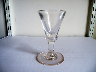 AN 18th CENTURY GEORGIAN TOASTMASTERS DECEPTIVE WINE GLASS